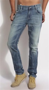Blue jeans by Benetton for men