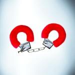 Red fur handcuffs