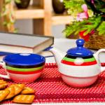 Colourful tea set at Jabong
